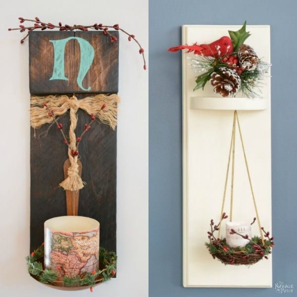 DIY Wall Sconces from Scrap Wood    working