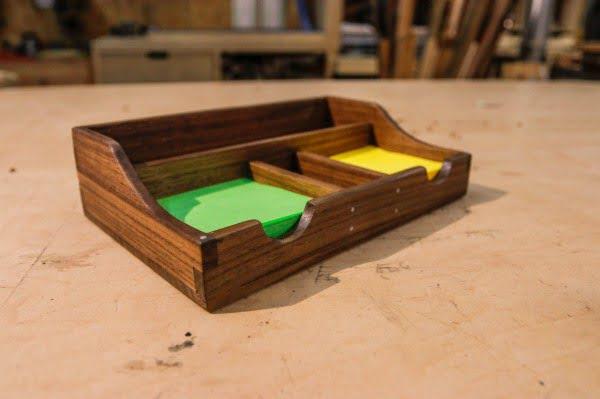 DIY Scrap Wood Desk Organizer    working