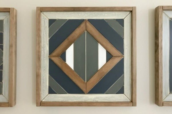 DIY Scrap Wood Geometric Art Steps, with How-To Video!    working
