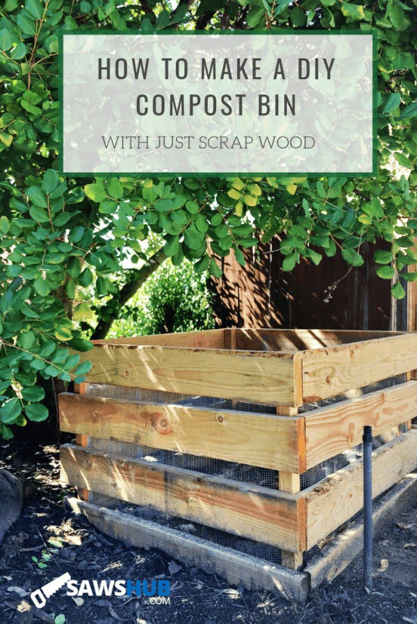 How to Make a DIY Compost Bin from Scrap Wood    working