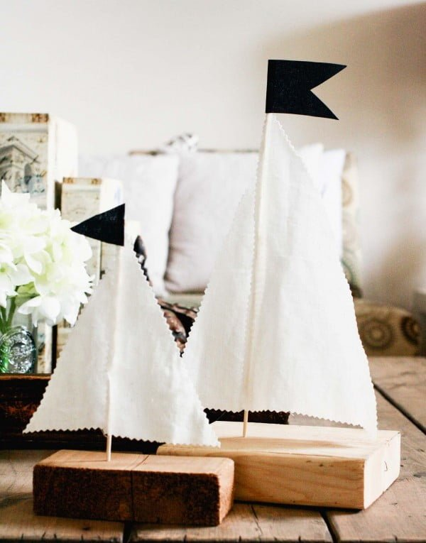 Quick and Cheap DIY Scrap Wood Sailboats    working