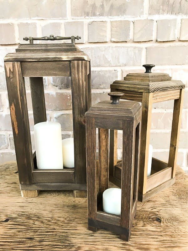 DIY Scrap Wood Lanterns    working