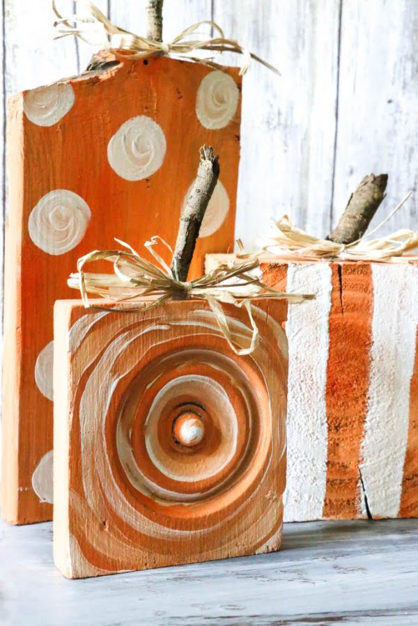DIY Scrap Wood Pumpkins    working
