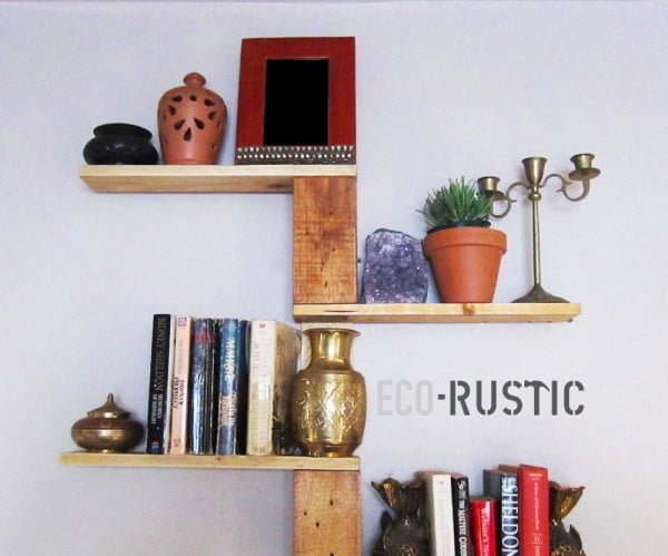 DIY PALLET WOOD TREE SHELF TUTORIAL    working