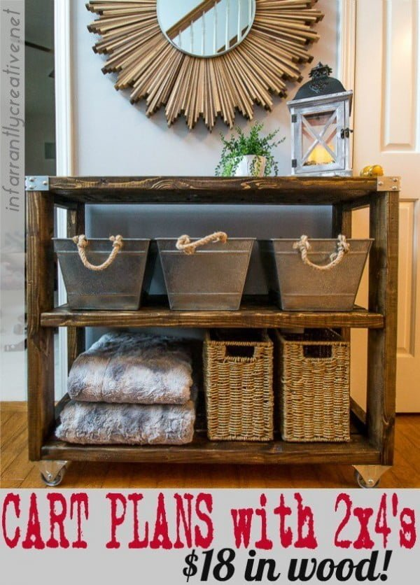 Farmhouse Industrial End Table Cart    working