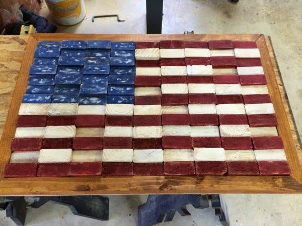 Scrap 2x4 Flag    working