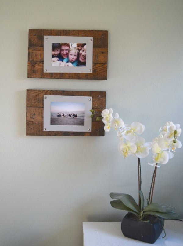DIY Rustic Scrap Wood Picture Frames Spotlight Favorite Photos    working