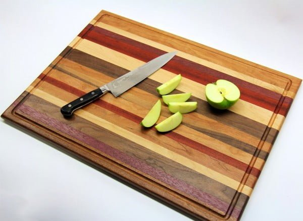 Scrap Wood Cutting Board    working