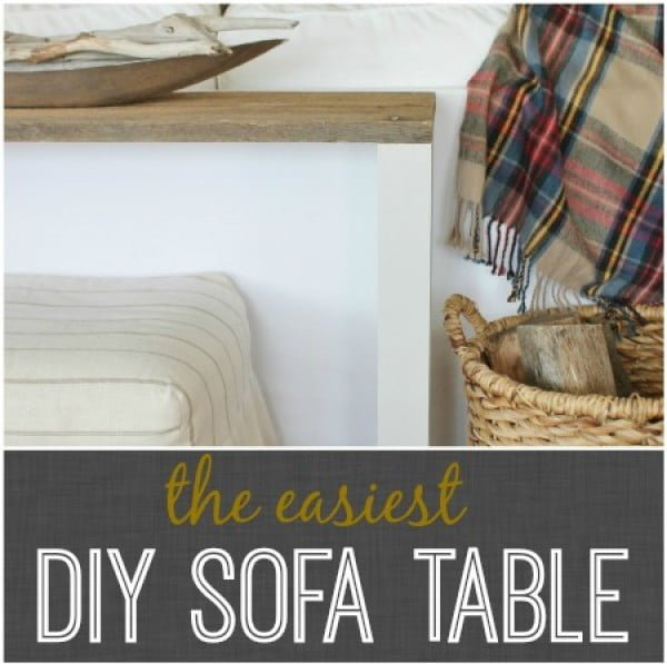 The Easiest DIY Reclaimed Wood Sofa Table    working