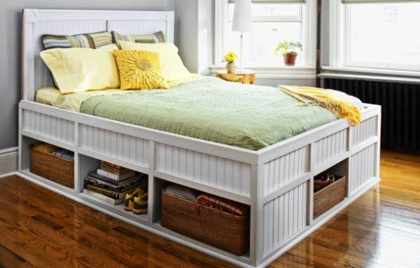 15 Easy DIY Bed Frames with Storage to Store Everything in the Bedroom