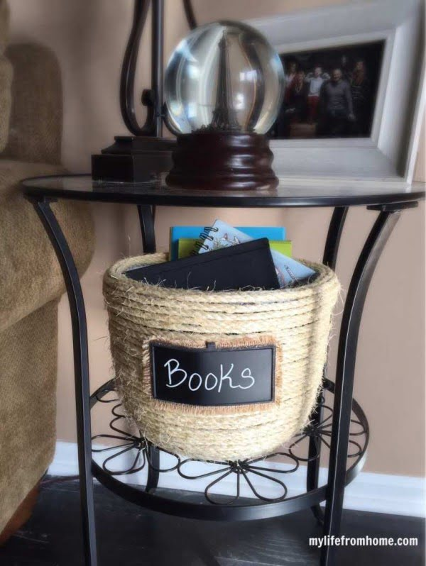 Thrift Store Makeover Challenge: Sisal Rope Basket