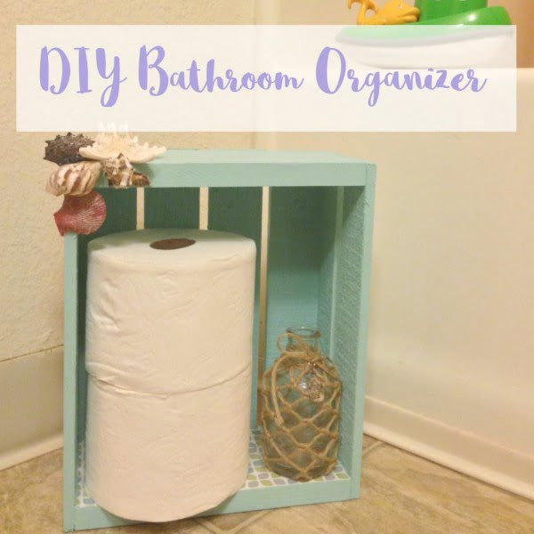 DIY Bathroom Organizer and Toilet Paper Holder Simply Sweet Days   decor