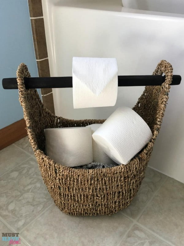 DIY Toilet Paper Holder   decor