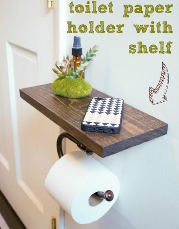 DIY Toilet Paper Holder With Shelf   decor