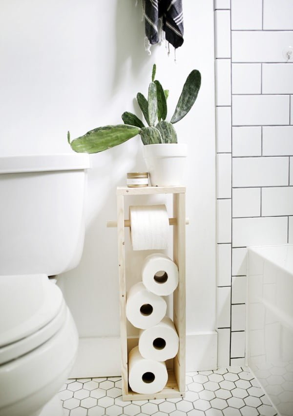 DIY Toilet Paper Stand   decor