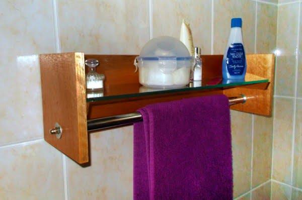 DIY Bathroom Shelf and Towel Rack