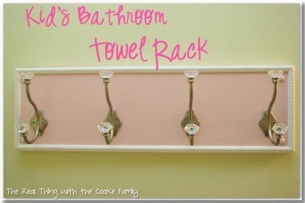 Bathroom Towel Rack {DIY}