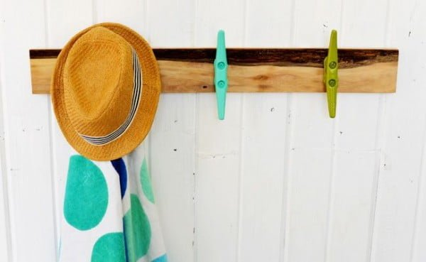 Bring The Beach Home With A DIY Towel Rack