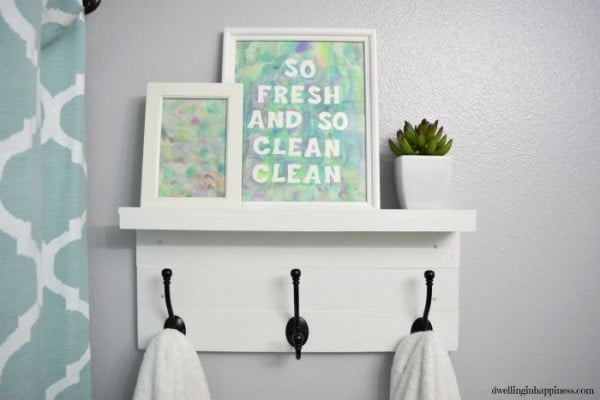 DIY Towel Rack with a Shelf