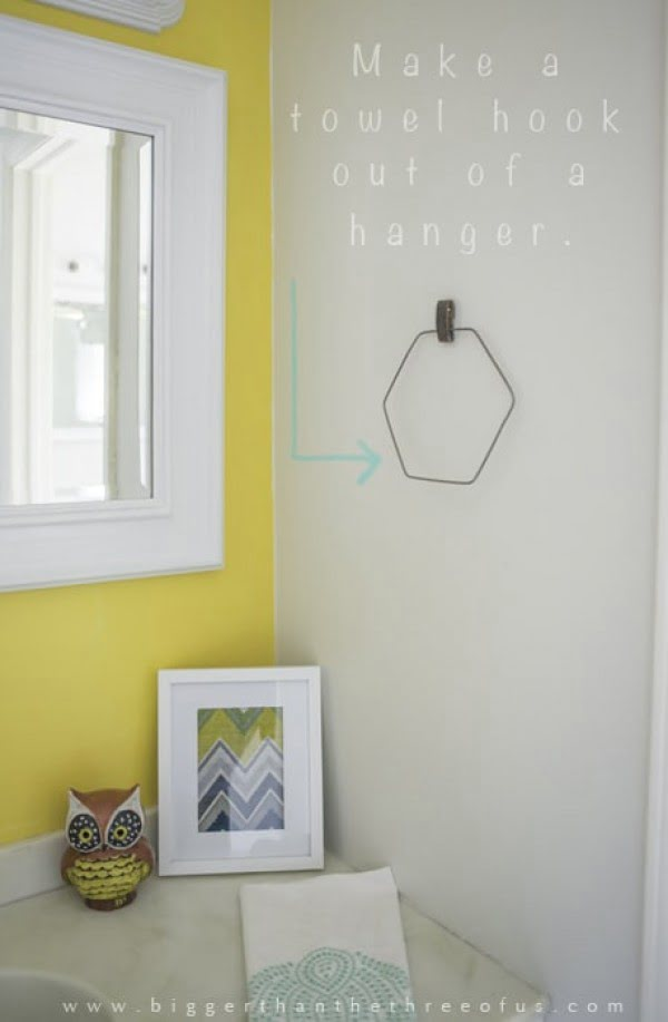 DIY Towel Rack (Hanger)