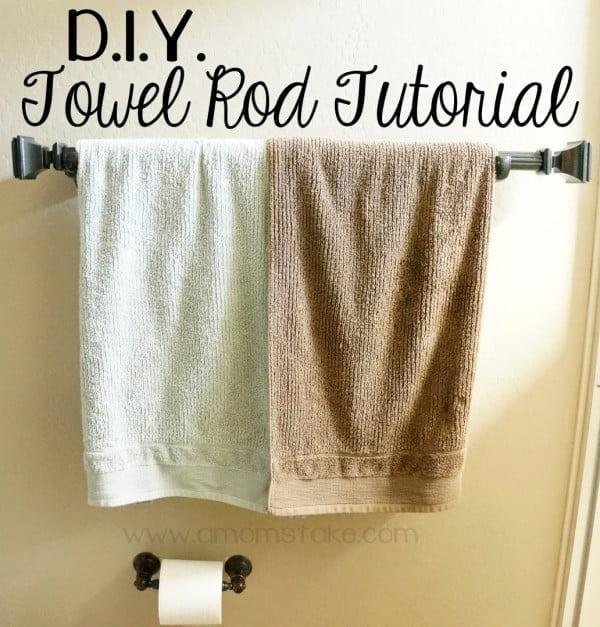 DIY Towel Rack Tutorial