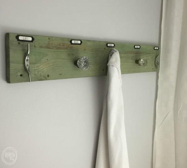 Rustic Industrial DIY Towel Rack