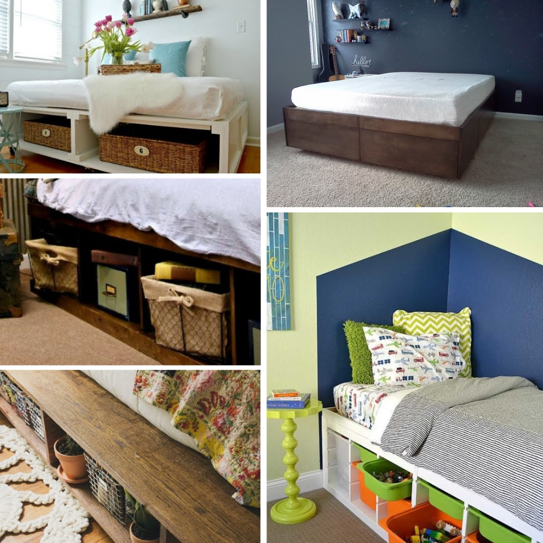 15 Easy DIY Under The Bed Storage Ideas On A Budget