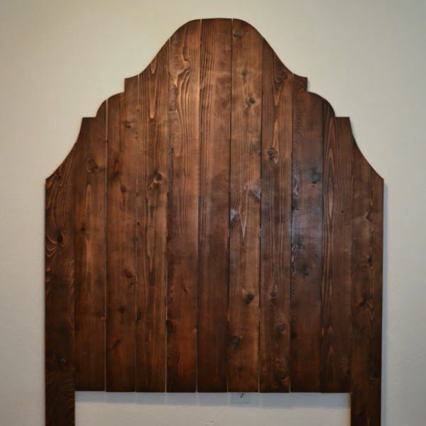 Cheap and Easy DIY Headboard Made From Cedar Fence Pickets (Finally Finished!!)