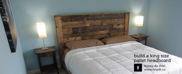 king size DIY headboard