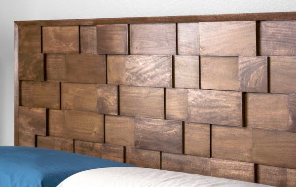 Mid Century Modern DIY Wood Headboard