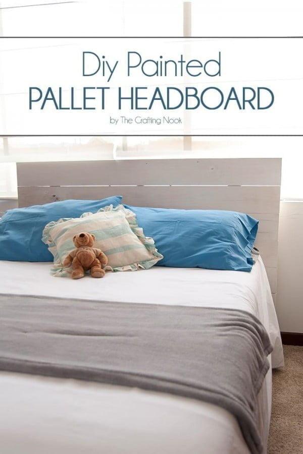DIY Painted Pallet Headboard