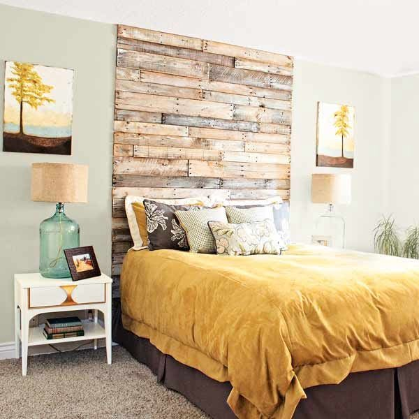 pallet wood DIY headboard