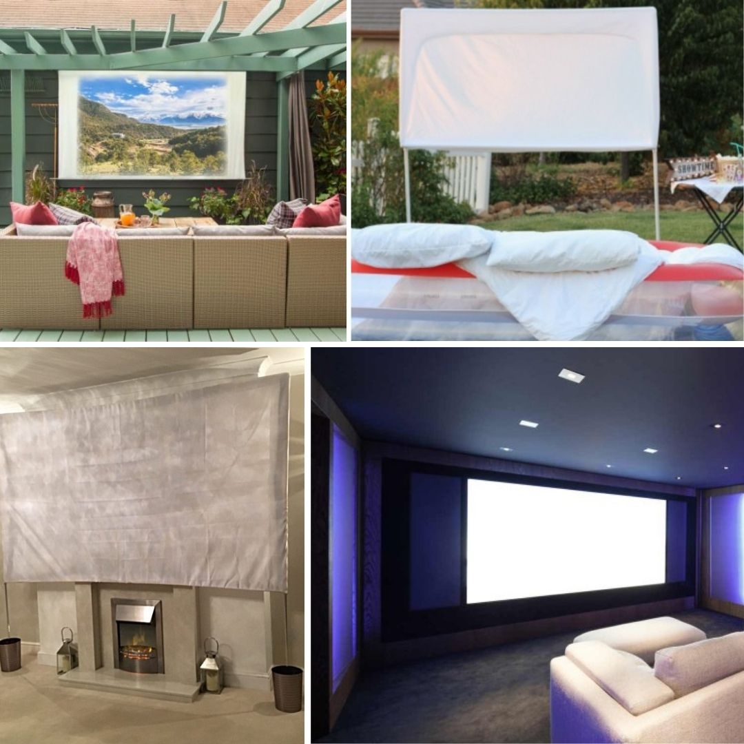 9 Simple DIY Projector Screen Ideas That Your Family Will