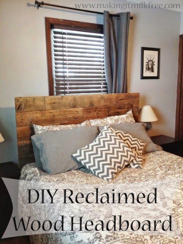 DIY:: Reclaimed Wood Headboard
