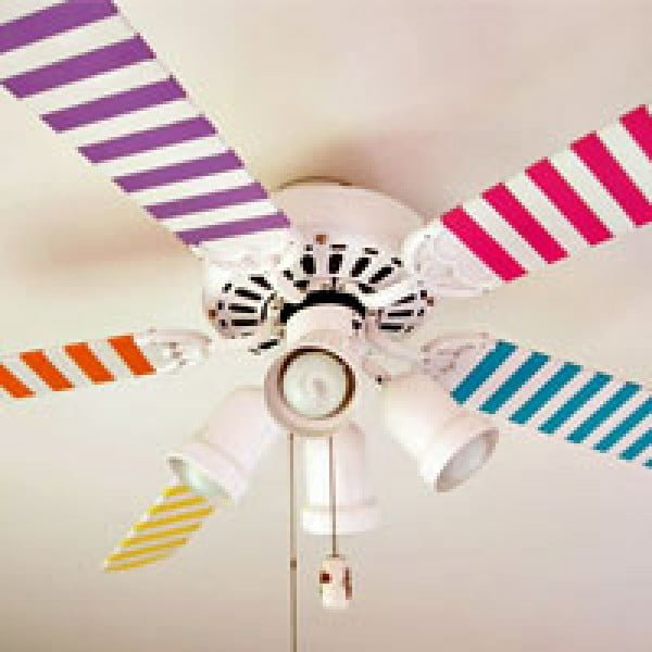 Ceiling Fan Painting    tape