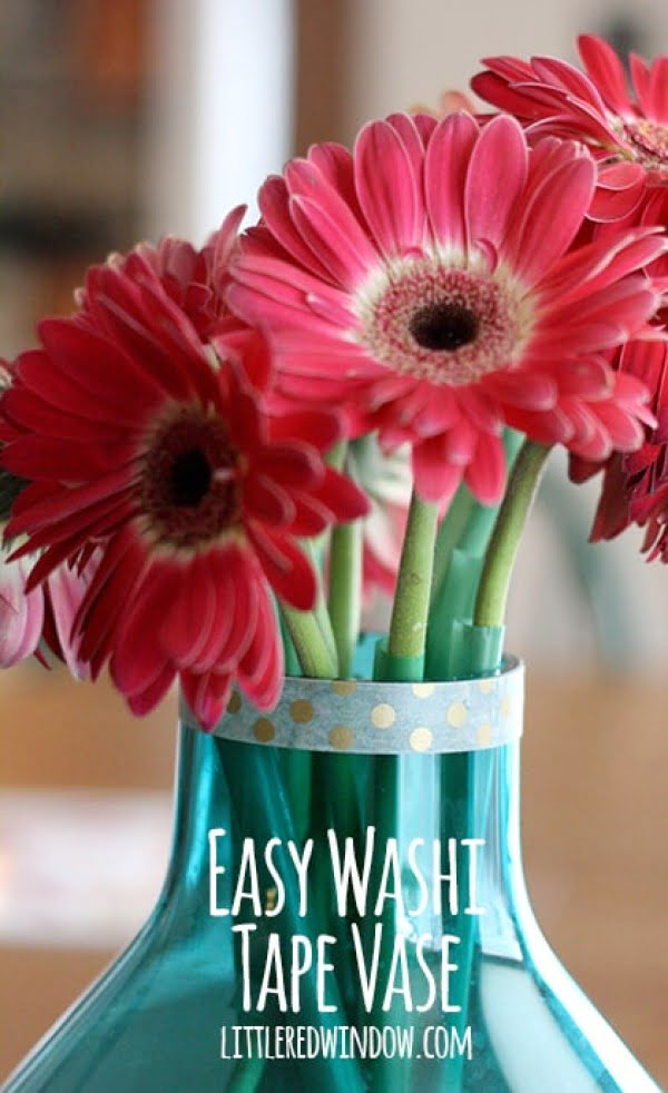 Easy Washi Tape Vases    tape