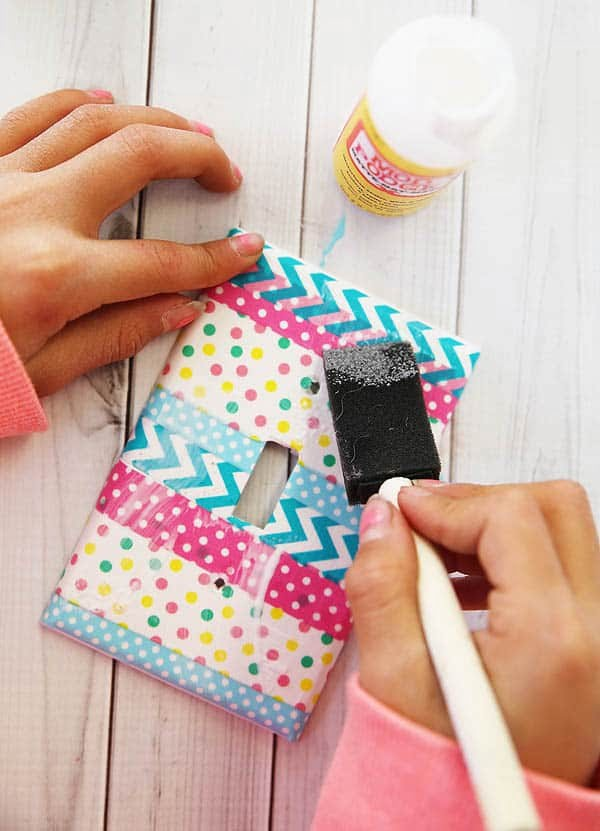 Washi Tape Light Switch Covers    tape