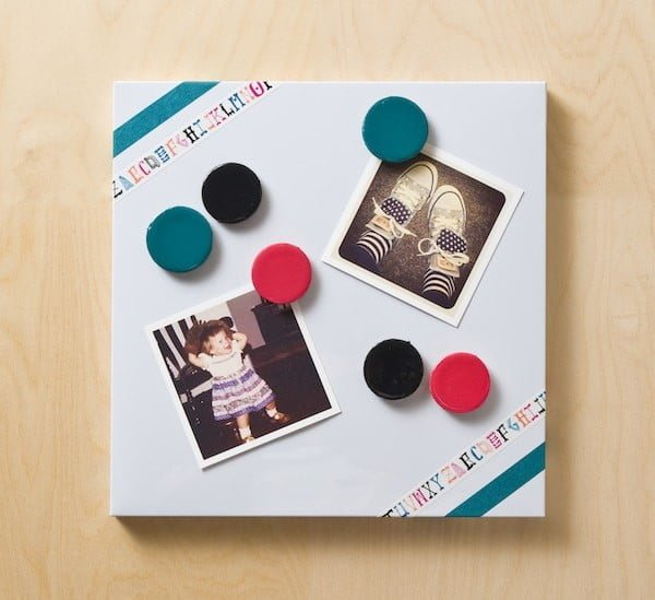 Decorate a Magnet Board with Washi Tape    tape