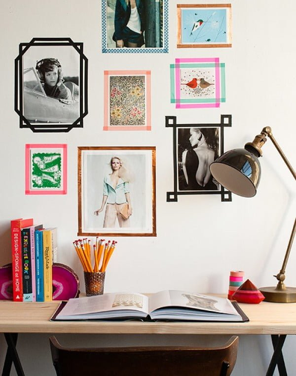 Apartment Hack: Washi Tape Picture Frames    tape