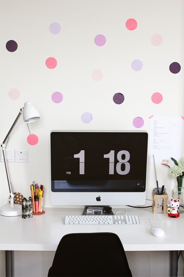 » DIY Dot Wall    tape
