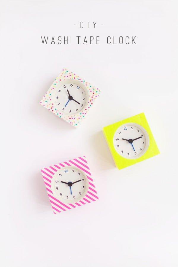 DIY WASHI TAPE CLOCKS    tape
