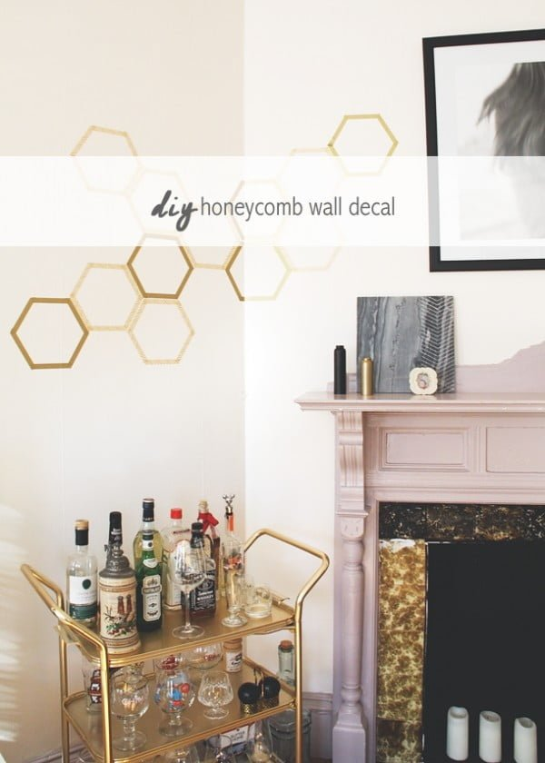 How to Make a Totally Removable Honeycomb Wall Decal Idle Hands Awake    tape