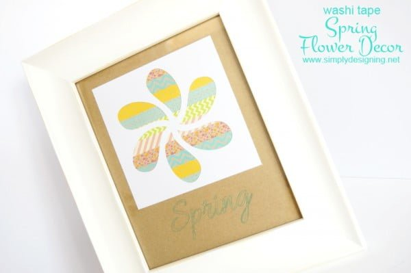 Washi Tape Spring Flower Decor + Silhouette Specialty Media Promotion    tape