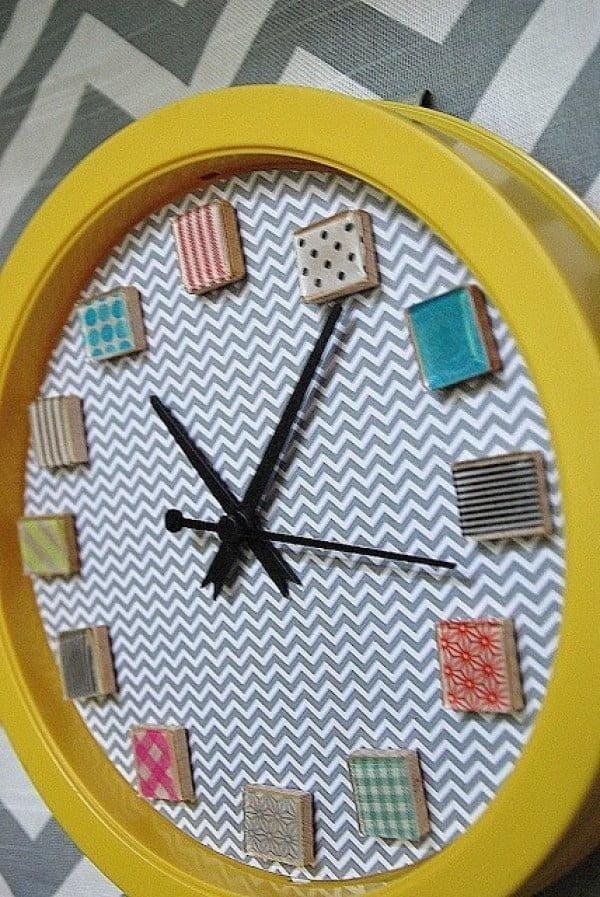 Make a Washi Tape Clock {tutorial}!!    tape