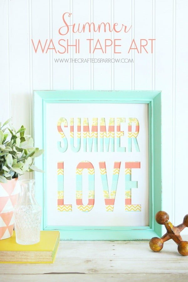 Summer Washi Tape Art    tape