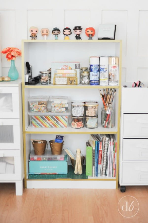 Washi Tape Bookcase    tape