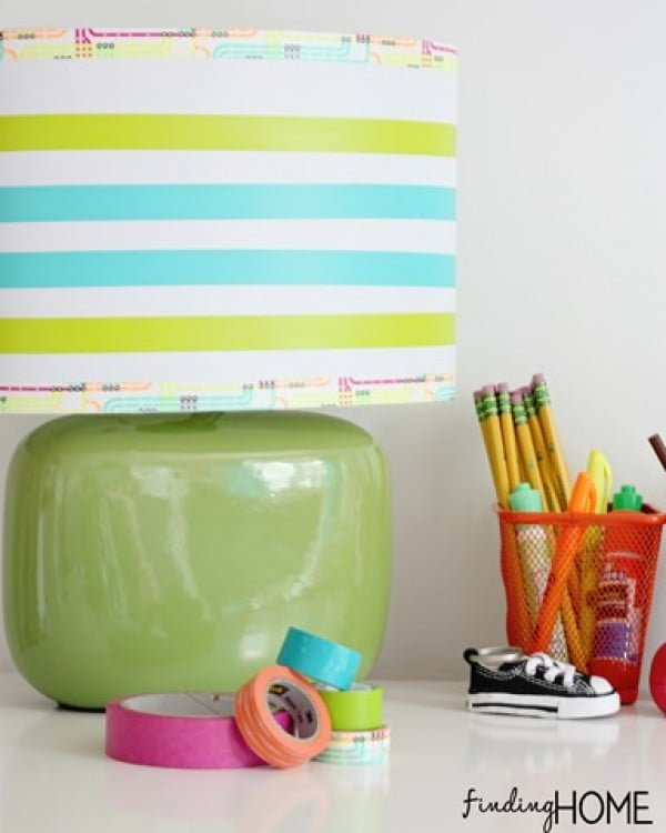 Washi Tape Crafts: Lamp & Shelf    tape