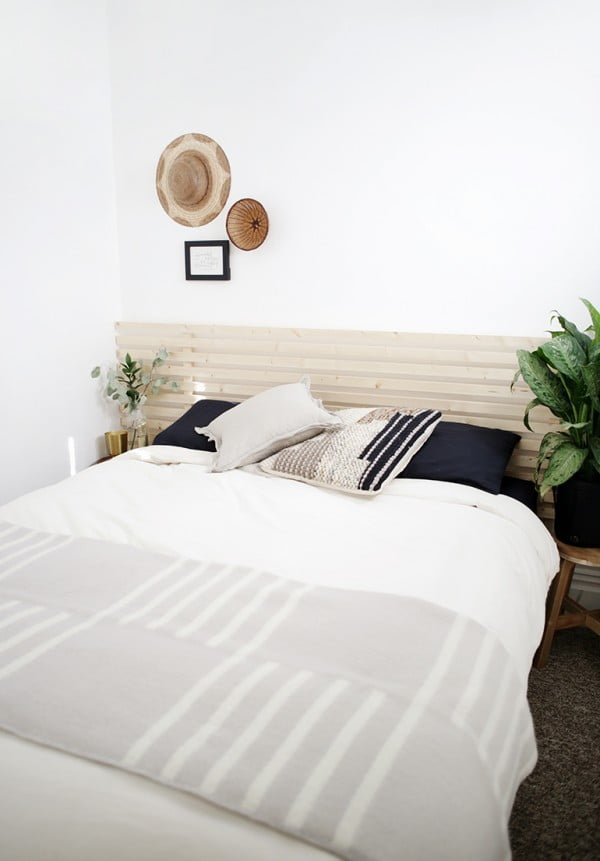 DIY Headboards using wood slats