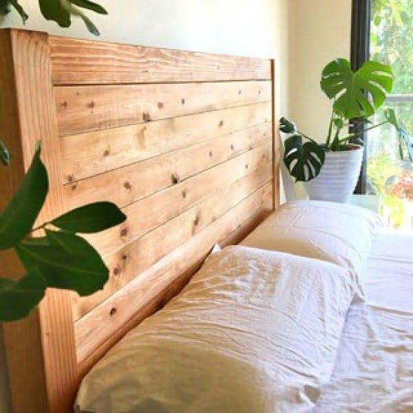 Easy and Beautiful Wood DIY Headboard
