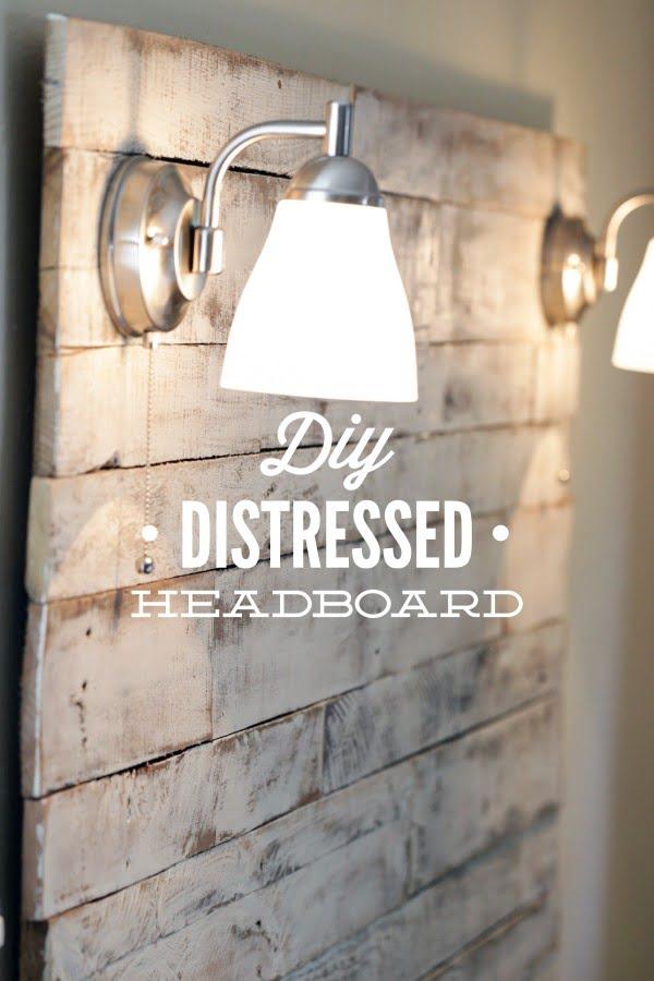 How to Make a DIY Distressed Headboard